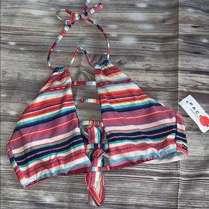 Billabong women's halter  bikini top  stripes ☀️
